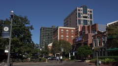 Adams Street, downtown Tallahassee, Florida, USA Stock Footage