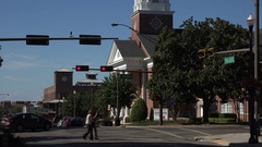 College street, downtown Tallahassee, Florida, USA Stock Footage