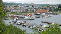 View of Nodeviga in Kristiansand, Norway Stock Footage