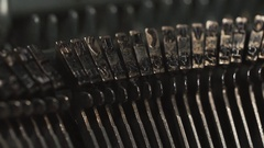 Old Vintage Typewriter, close-up, 4K UltraHD Stock Footage