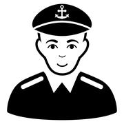 Captain Flat Vector Icon Stock Illustration