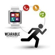 Smart watch wearable technology portable accessory Stock Illustration