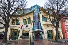 Crooked little house (Krzywy Domek) in Sopot, Poland Stock Photos