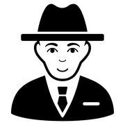 Agent Flat Vector Icon Stock Illustration