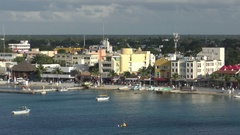 Scenic view of waterfront in Cozumel, Mexico Stock Footage
