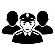 Army Team Flat Vector Icon Stock Illustration