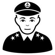 Military Captain Flat Vector Icon Stock Illustration