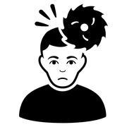Headache Flat Vector Icon Stock Illustration
