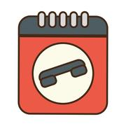 Cartoon notepad directory contacts telephone Stock Illustration