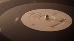 Close-up of a record player and the needle. Stock Footage