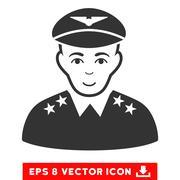 Military Pilot Officer EPS Vector Icon Stock Illustration
