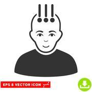 Neural Interface EPS Vector Icon Stock Illustration
