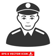 Soldier EPS Vector Icon Piirros