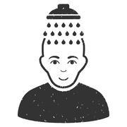 Head Shower Grainy Texture Icon Piirros