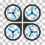 Copter Screws Rotation Vector Icon Stock Illustration