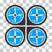 Nanocopter Screws Rotaion Vector Icon Stock Illustration