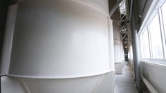 Storage for flour at the flour mill Stock Footage
