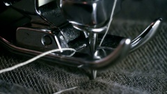 Sewing Machine Needle Super Slow Motion Stock Footage
