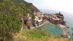 Vernazza in the Cinque Terre region of Liguria, Italy Stock Footage
