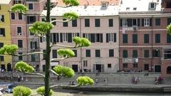 Vernazza in the Cinque Terre region of Liguria, Italy Stock Footage