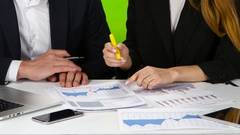 Analysis of marketing data Stock Footage