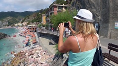 Monterosso al Mare in the Cinque Terre region of Liguria, Italy Stock Footage