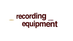 Recording equipment animated word cloud. Stock Footage