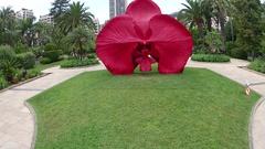 Burning Desire sculpture by artist Marc Quinn in Monte Carlo, Monaco, Europe. Stock Footage