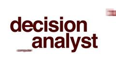 Decision analyst animated word cloud. Stock Footage