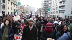 Marching Black Lives Matter protest march in New York City Arkistovideo