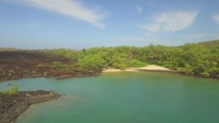 Tropical Paradise Jungle Beach Maui Pull Out From Secluded Beach Lot Reveals Bay Stock Footage