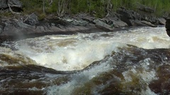 A man kayaking on river rapids. Stock Footage