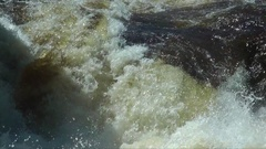 A man kayaking on river rapids. Stock Footage