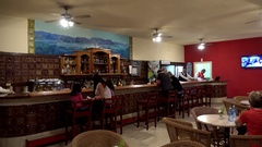 Guests in the Bar of the Los Jazmines Hotel. Vinales, Cuba Stock Footage