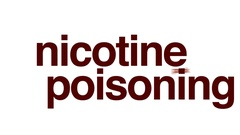 Nicotine poisoning animated word cloud. Stock Footage