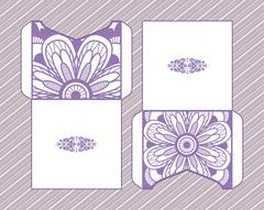 A festive envelope, wrapping, cover. Mandala Stock Illustration