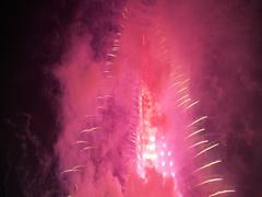 New Year Fireworks show series at world's tallest tower Burj Khalifa in Dubai Stock Footage