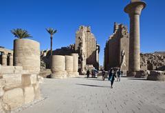 The archaeological site of Karnak Stock Photos