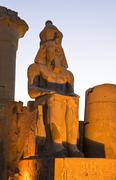 The archaeological site of Luxor Stock Photos