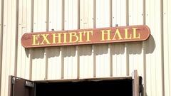 Exhibit Hall Sign Stock Footage