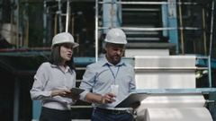 Executive Engineers Performing Inspection Stock Footage