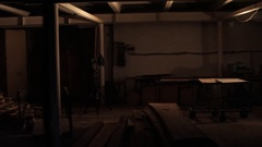 Gloomy dark basement Stock Footage
