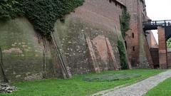 Castle of Teutonic Order in Malbork, Poland Stock Footage