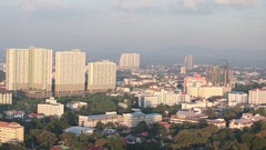 The view from the hotel to the coastline. Pattaya Thailand Stock Footage