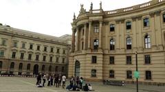Old Library at Bebelplatz in Berlin, Germany Stock Footage