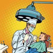 Dentist treats teeth boy Piirros