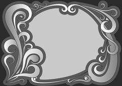 Vector illustration of vintage gray frame Stock Illustration
