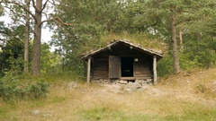 Old house at Vest-Agder-museet in Kristiansand, Norway, small Stock Footage