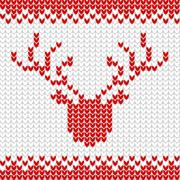 Knitted realistic seamless pattern of white color Stock Illustration