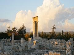 Sanctuary of Apollo Hylates, Cyprus visit Stock Footage